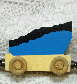 magnetic name coal car blue
