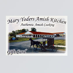 gift cards at Mary yoders amish kitchen
